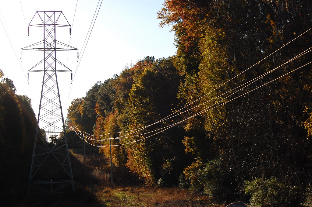What Is Transmission >> Powerline | Part of the local power transmission lines as ...