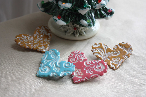 Latest batch of brooches:  christmas photos | by phydeaux designs