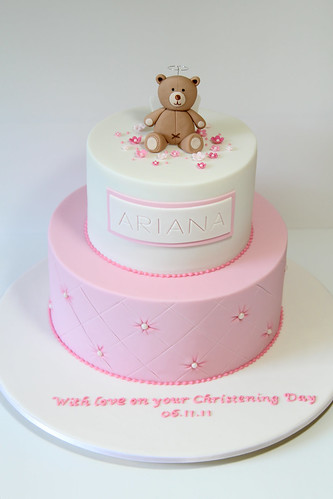 Christening Cake A 2 Tier Version Of A Similar Previous