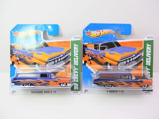 hot wheels treasure hunt '59 chevy delivery super and regular | by jadafiend