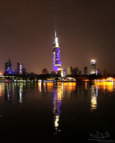 xuanwu lake park in the night / Nnanjing-china | by MemeChi <3