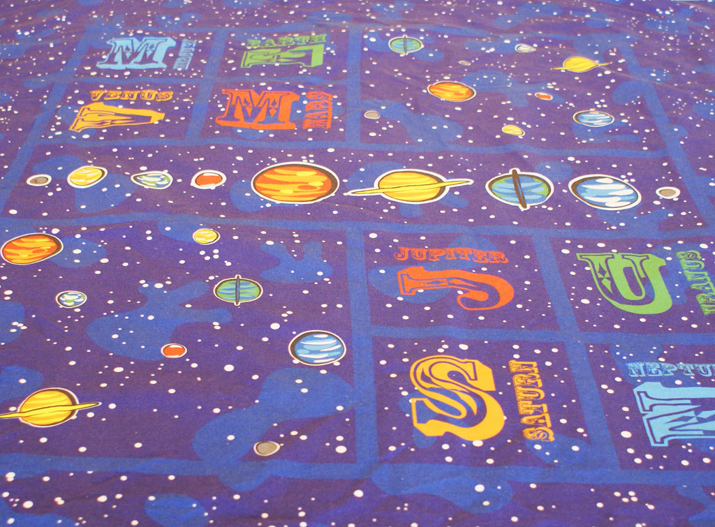 Our solar system quilt fabric for Solar system fabric