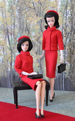 104-1.  Jackie Kennedy red suit she wore in Canada for Silkstone and FR dolls | by Natalia Sheppard