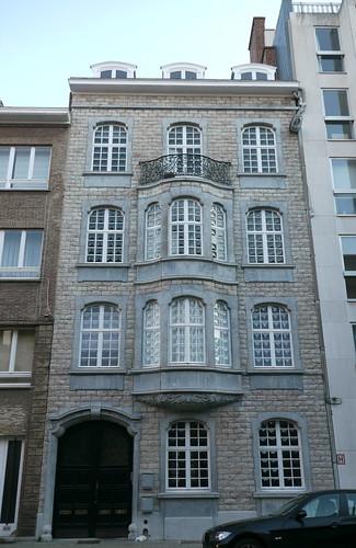 Bruxelles belgique rue jordaens maison de rapport de st for Architecte bruxelles