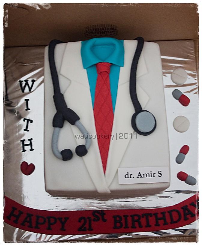 Doctor Themed Birthday Cake Rachmawati Wati Flickr