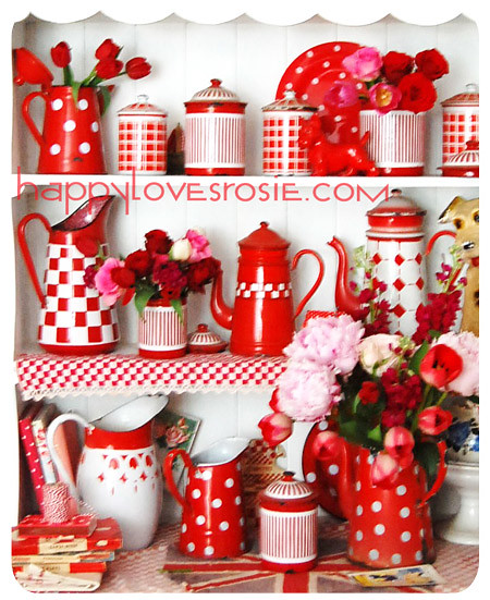 red and white decor come and visit me at happylovesrosie c happy loves rosie flickr. Black Bedroom Furniture Sets. Home Design Ideas