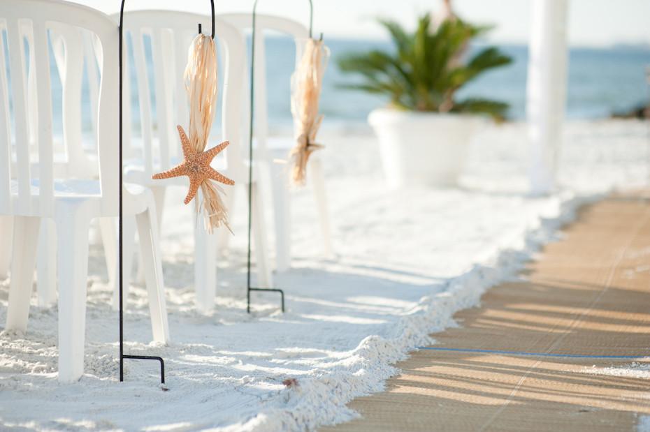 Beach Wedding Aisle Decoration | Rebecca Enslein | Flickr