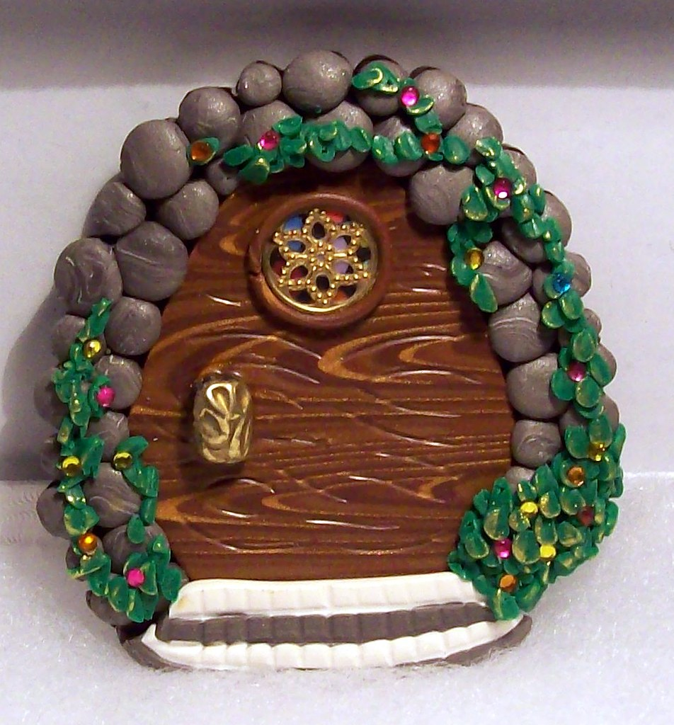 ... Polymer Clay Fairy Door | by BarbiesBest & Polymer Clay Fairy Door | Attach to wall just above the baseu2026 | Flickr