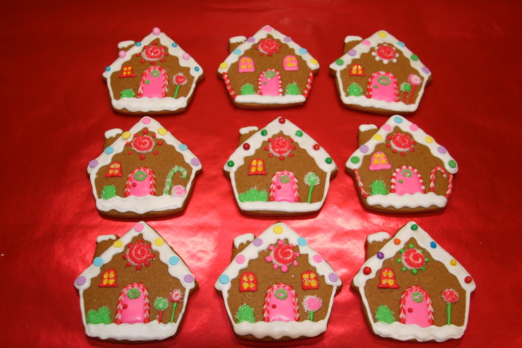 Gingerbread House Decorated Cookies Decoration For Home