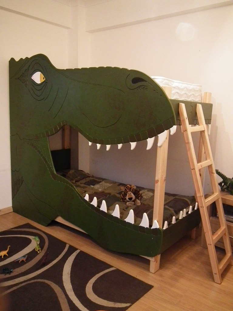 Dinosaur bunk bed t rex bunk bed made by dreamcraft furnit flickr - Boys room dinosaur decor ideas ...