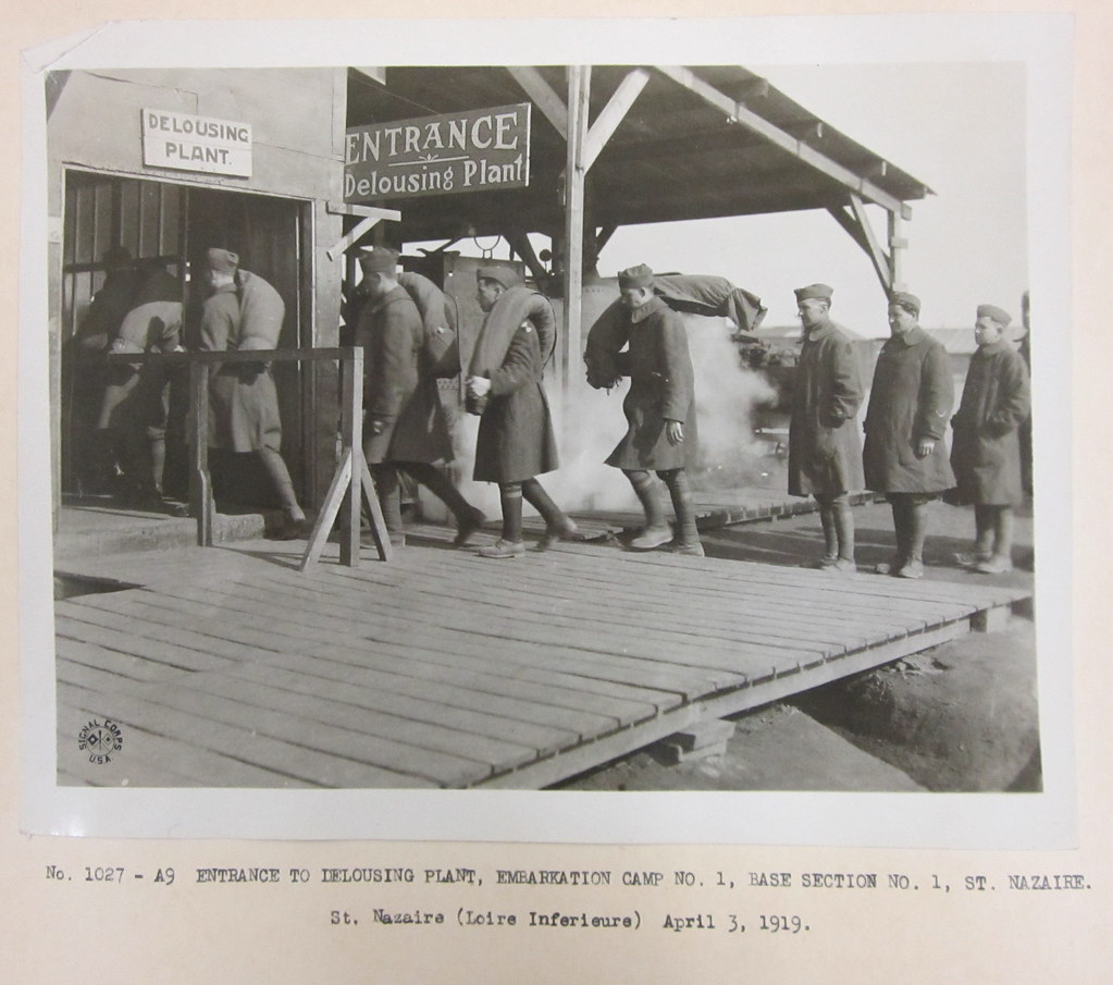Delousing Station Before American Troops Were Allowed To