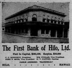 Ad: The First Bank of Hilo, Ltd.