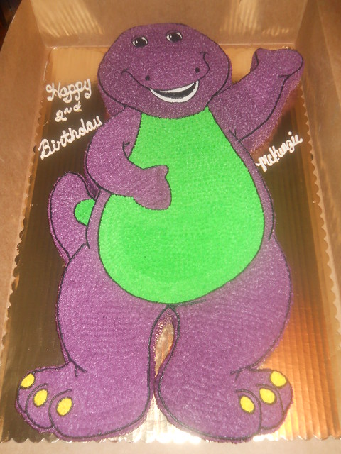 Barney Themed Birthday Cakes