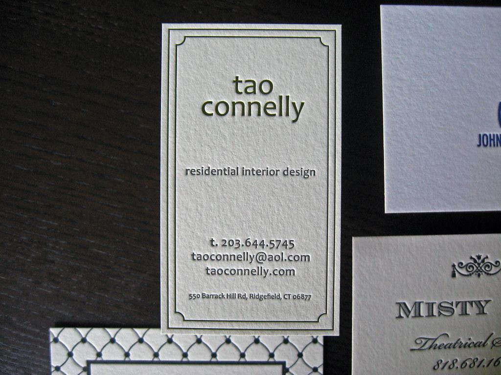 Residential interior design letterpress business card flickr for Interior design house of cards