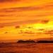 Pride of America leaving Honolulu Harbor after Sunset
