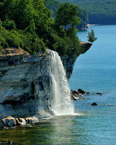 """Spray Falls""  Michigan's Pictured Rocks National Lakeshore 