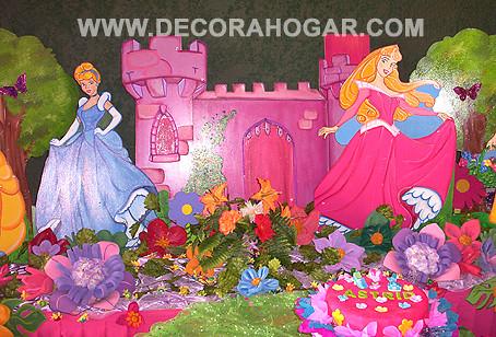 Decoraci n princesas disney organizamos tus eventos - Decoracion fiesta princesas disney ...