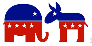 Republican Elephant & Democratic Donkey - Icons | by DonkeyHotey