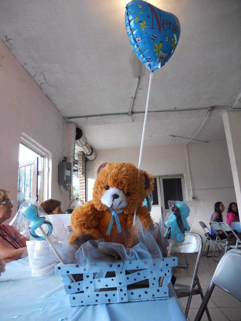 Centro De Mesa Para Baby Shower Oso De Peluche Karola Lovepic