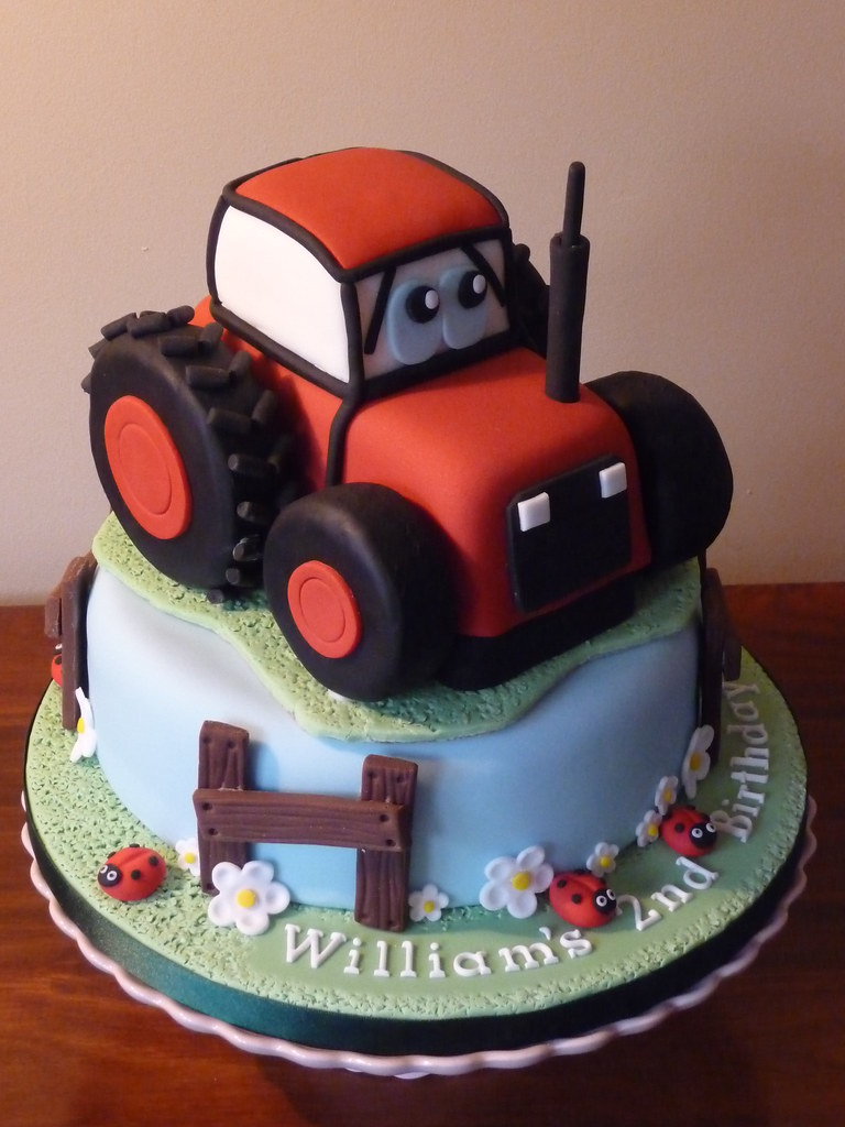 Tractor Cake Pan : Red tractor cake this is made up of an quot vanilla