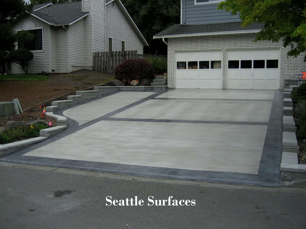 Resurfaced Driveway W Stamped Border This Exposed