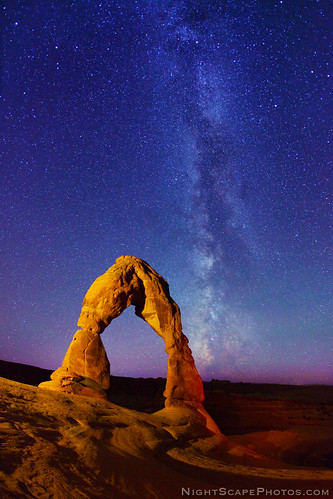 "Delicate Arch and Milky Way stars | by IronRodArt - Royce Bair (""Star Shooter"")"