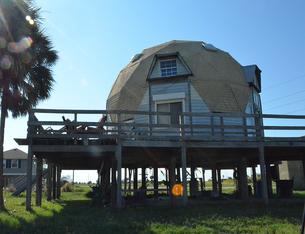 geodesic dome house west beach of galveston