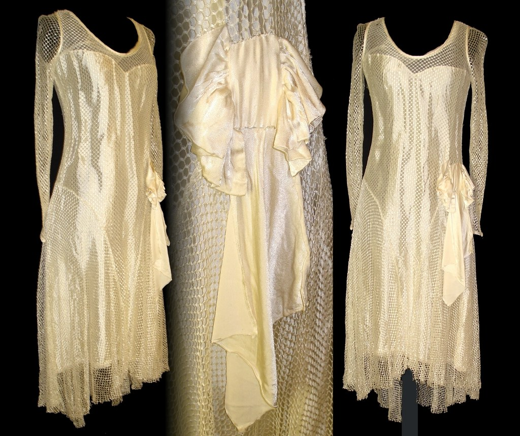 Vintage 1930s 30s Art Deco Art Nouveau Dress Wedding Gown … | Flickr