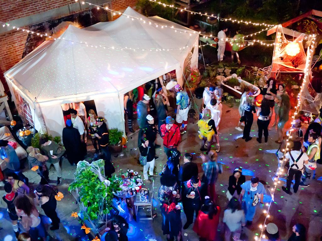 Huge Backyard Halloween Party