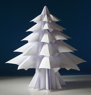 simplest 3d paper christmas tree abete 4 fir tree 4 tecnica origami con 6 fogli 7153