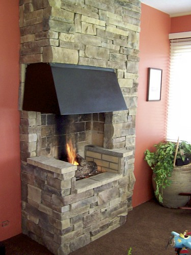 Stacked stone fireplaces | by TheStoneExpert