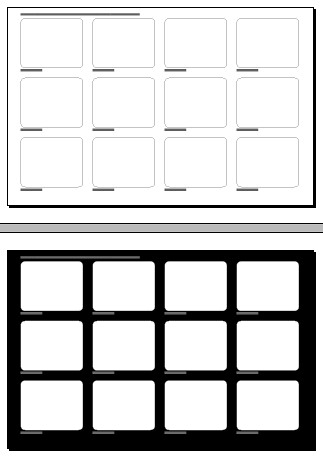 By Kristof Creative 12 Frame Storyboard 17 X 11 In