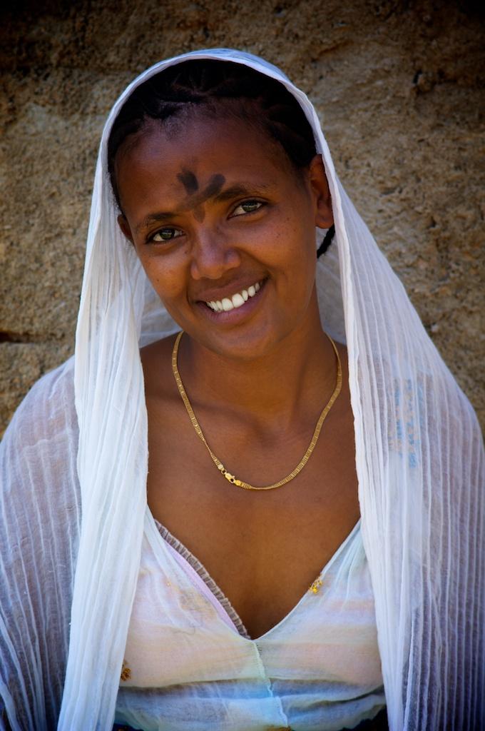 True Cross Ceremony, Veiled Ethiopian Girl With Traditionn  Flickr-2657