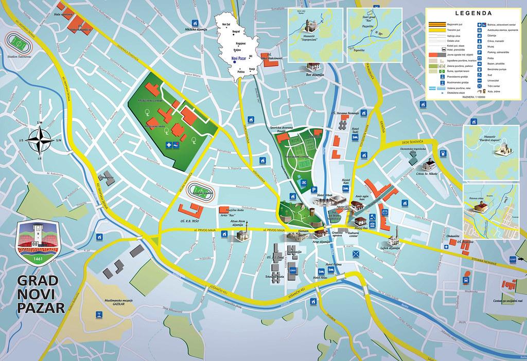 mapa novi pazar NOVI PAZAR MAPA | Sejatino | Flickr mapa novi pazar