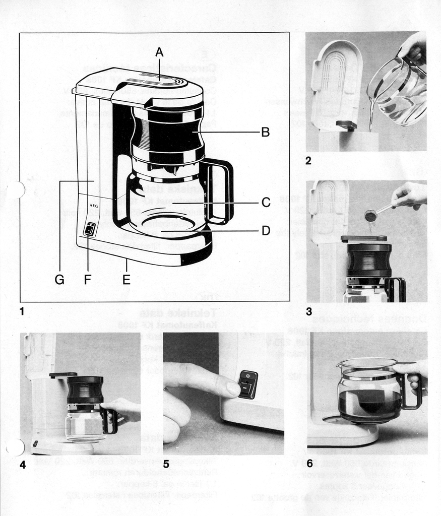 AEG Kaffeeautomat KF 1008 How to make a coffee