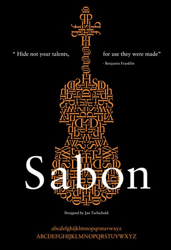 Sabon Typography Poster Design | by victor sarabia