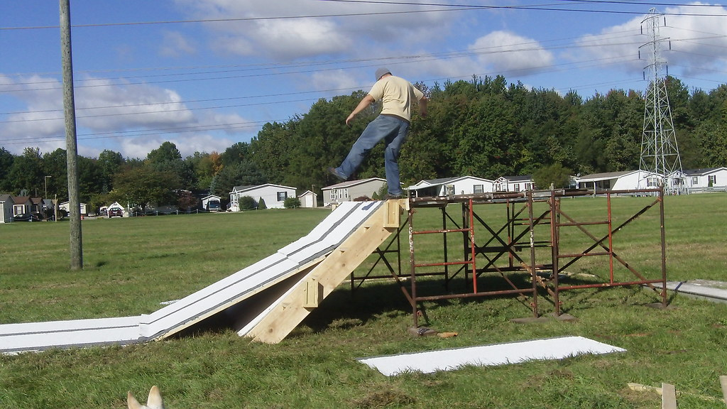 Backyard Snowboard Ramp mini snowboard ramp | drew checking out the drop in status o… | flickr