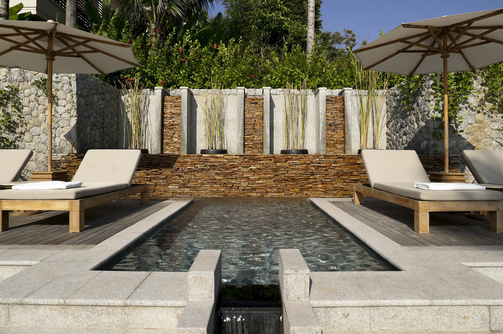 ... Zen Garden Pool, Geometric Spa | By Serenity Custom Pools
