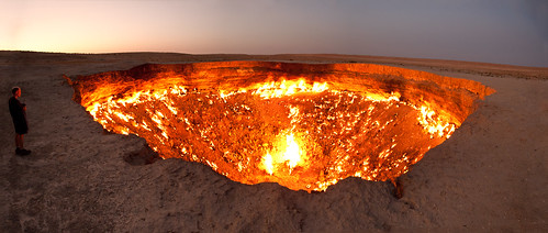 Darvaza gas crater panorama | by Tormod Sandtorv