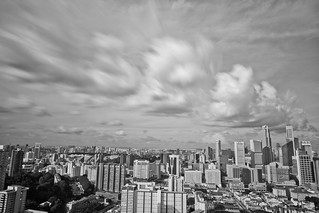 Monochromatic Cityscape of Singapore | by Shutter wide shut