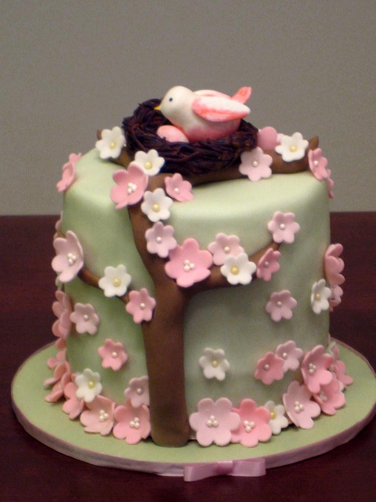 Bird Cakes For Baby Shower