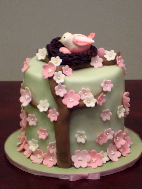 Bird Nest Baby Shower topper Cake Flickr - Photo Sharing!