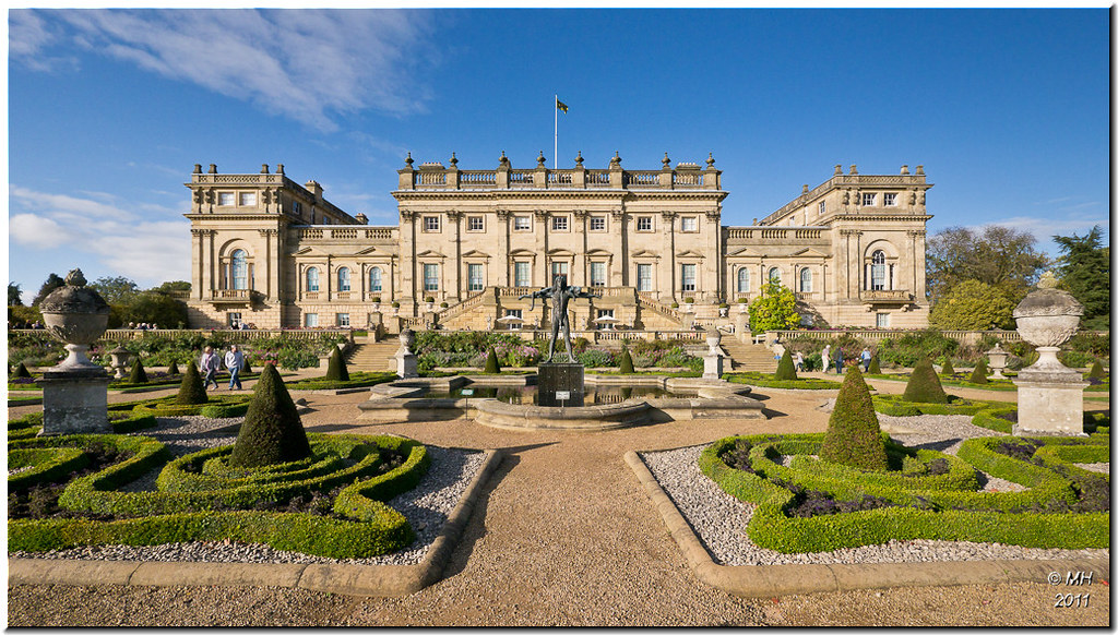 Harewood house the formal gardens in front of harewood for The tuxedo house