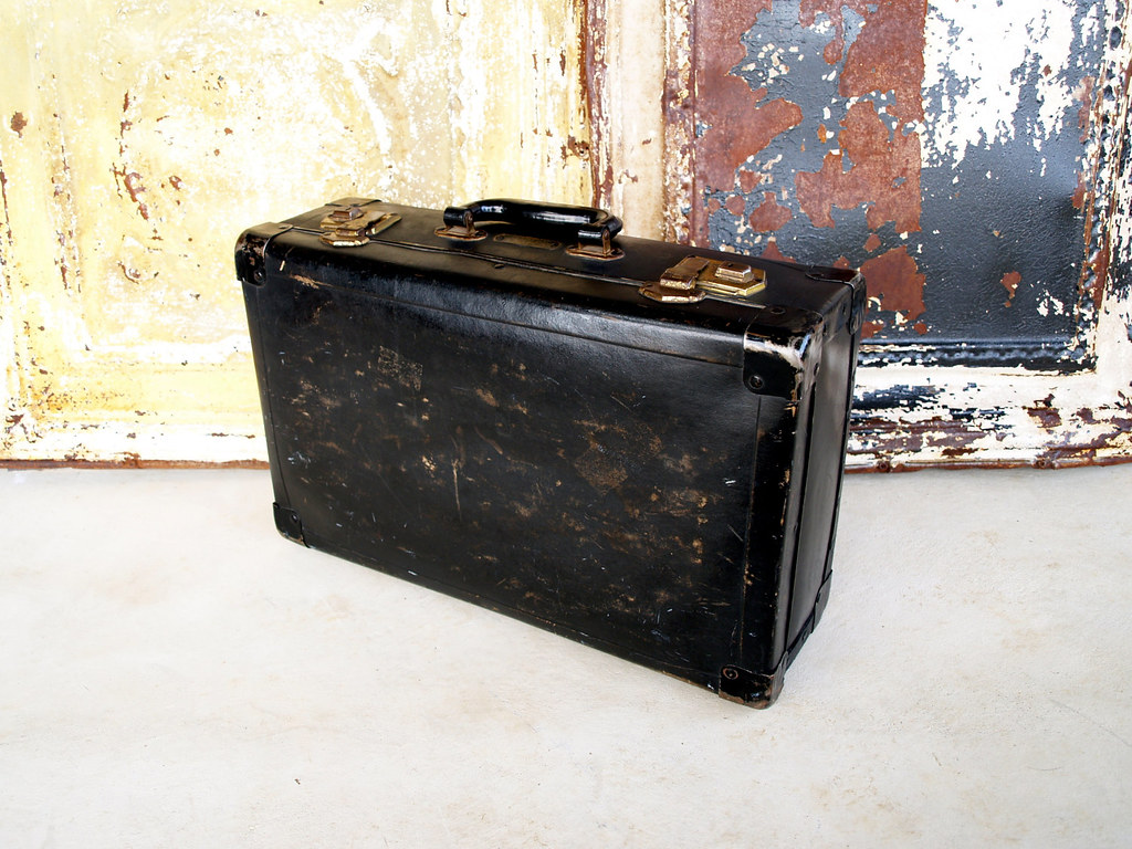 Old Nyc Briefcase Antique Traveling Salesman Case
