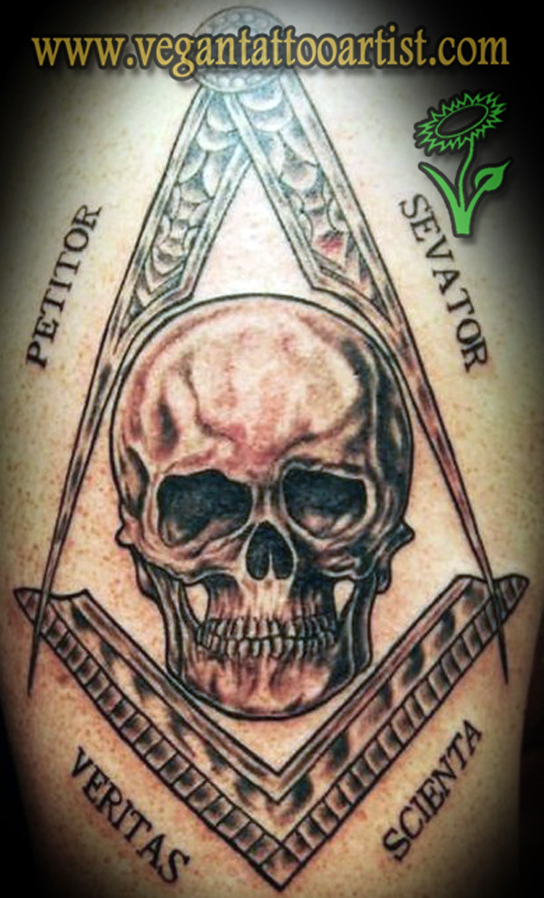 Masonic Skull Tattoo Masonic Skull Tattoo German Verzegnassi