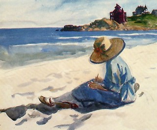 Jo Sketching at the beach | by El ladron de Bagdad