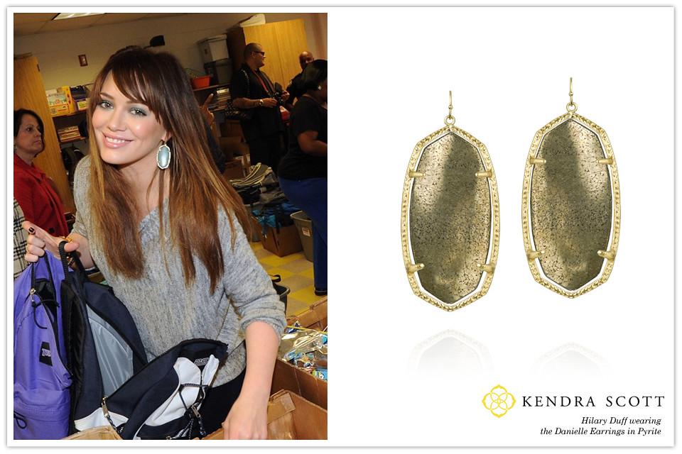 Celebrity Hilary Duff In Kendra Scott Designer Fashion Jew Flickr