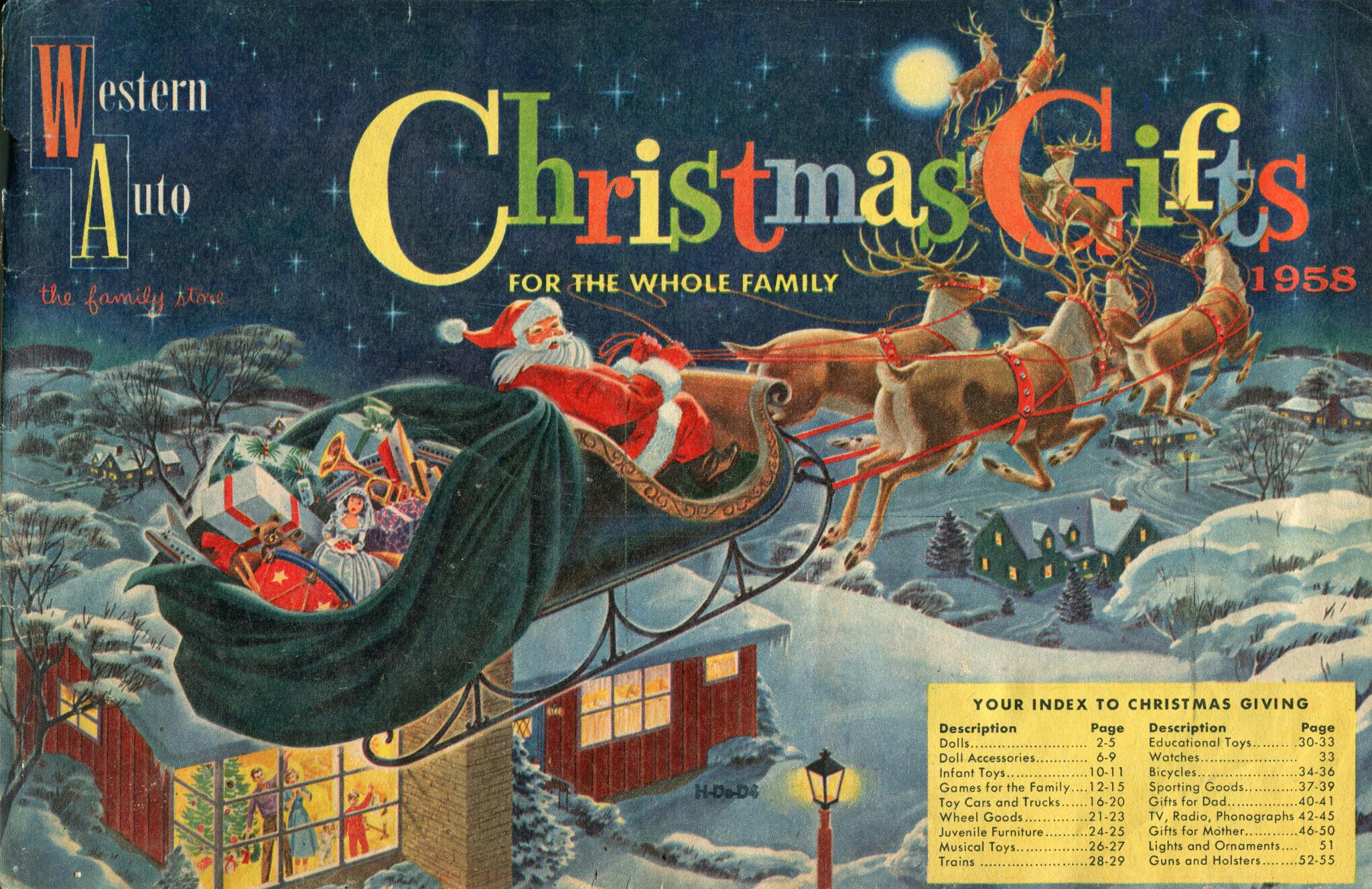 Western Auto Christmas Gifts 1958 catalog