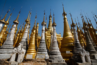 Stupas at Shwe Inn Dein | by Lil [Kristen Elsby]