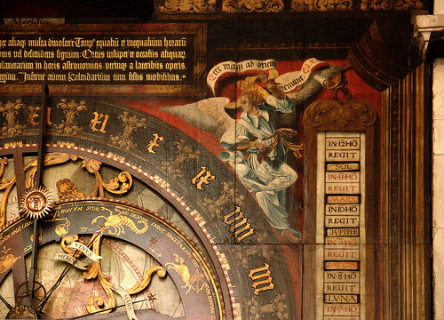 Münster, Westfalen, Paulusdom, astronomical clock, middle section, detail | by groenling
